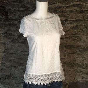 Ralph Lauren lace bottom t shirt